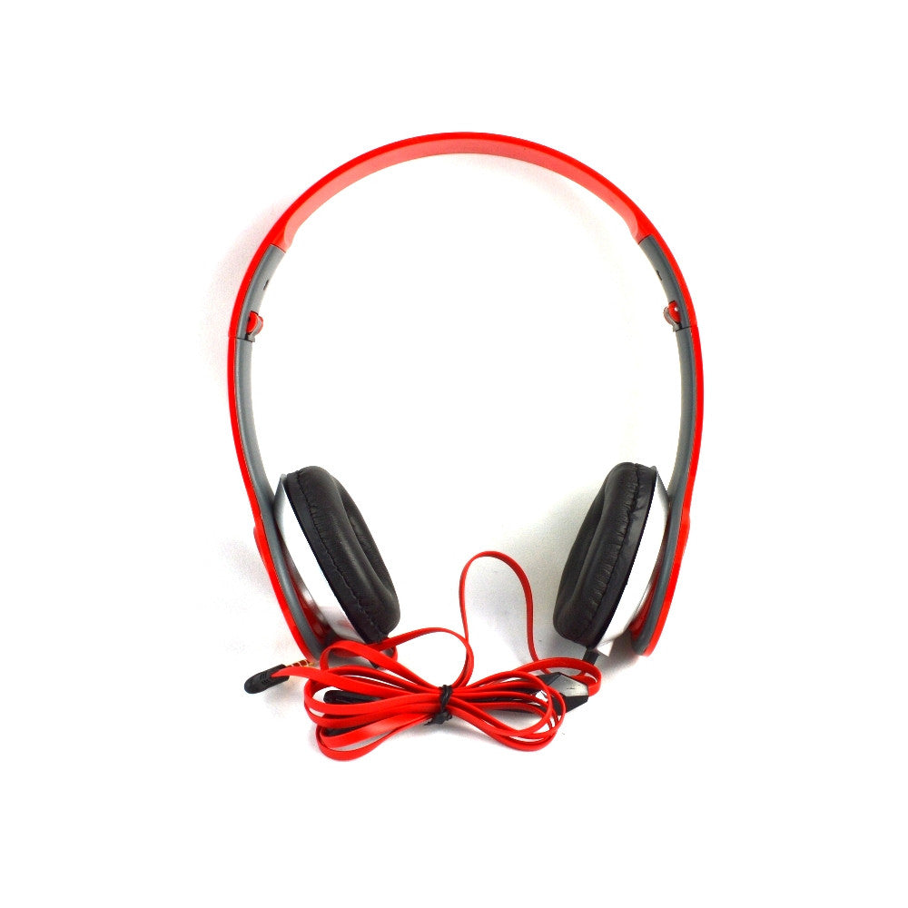 LANGSTON Foldable Stereo Headset with Microphone HF-7-RED