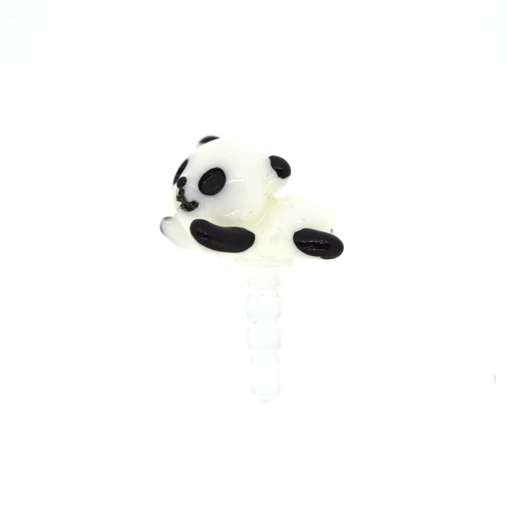 White Panda Mobile Jewellery Dust Plug