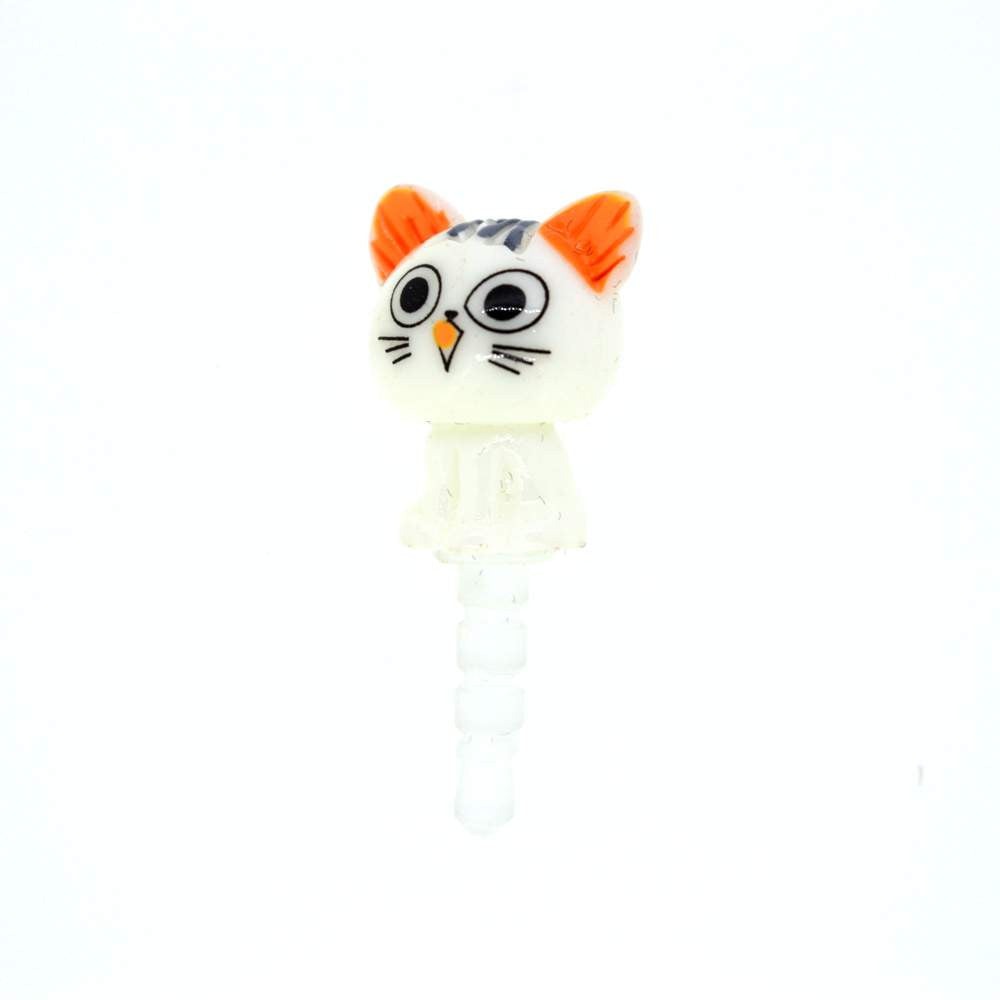 Mobilegear White Cat Mobile Jewellery Dust Plug
