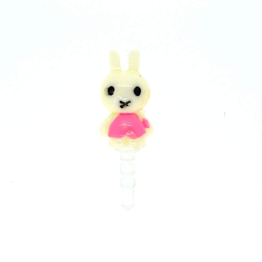 Mobilegear Pink Clothes Rabbit Mobile Jewellery Dust Plug