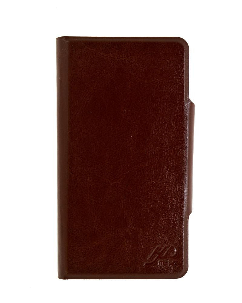 Latest Hot Luxury Leather Feel Mobile Flip Cover XL Size - BROWN