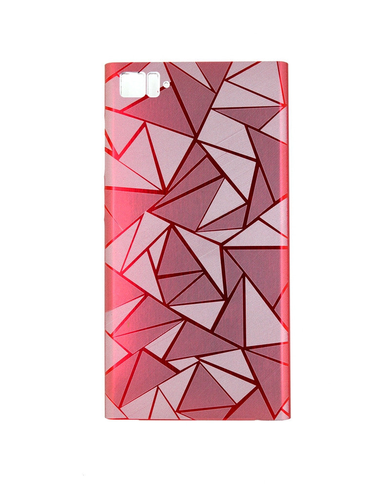 Xiaomi MI3 Highy quality Cool 3D Rhombus Diamond Metal Back Cover - PINK