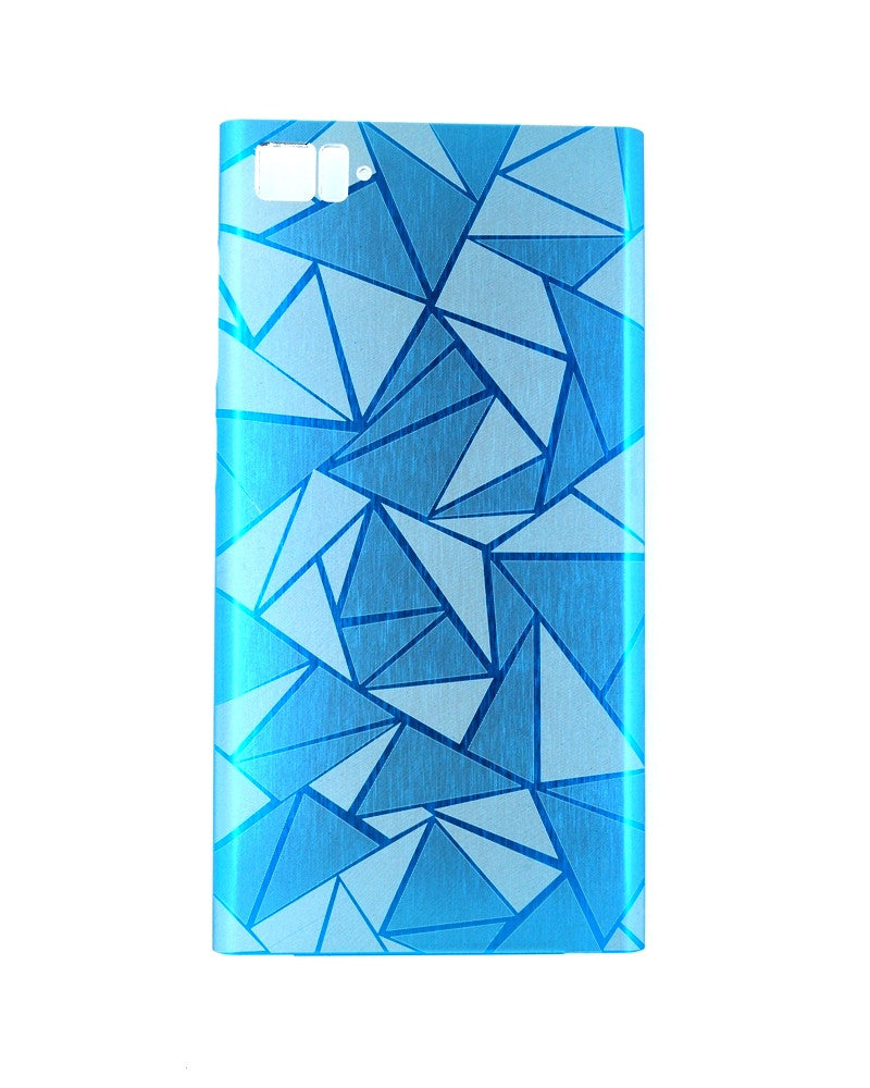 Xiaomi MI3 Highy quality Cool 3D Rhombus Diamond Metal Back Cover - BLUE