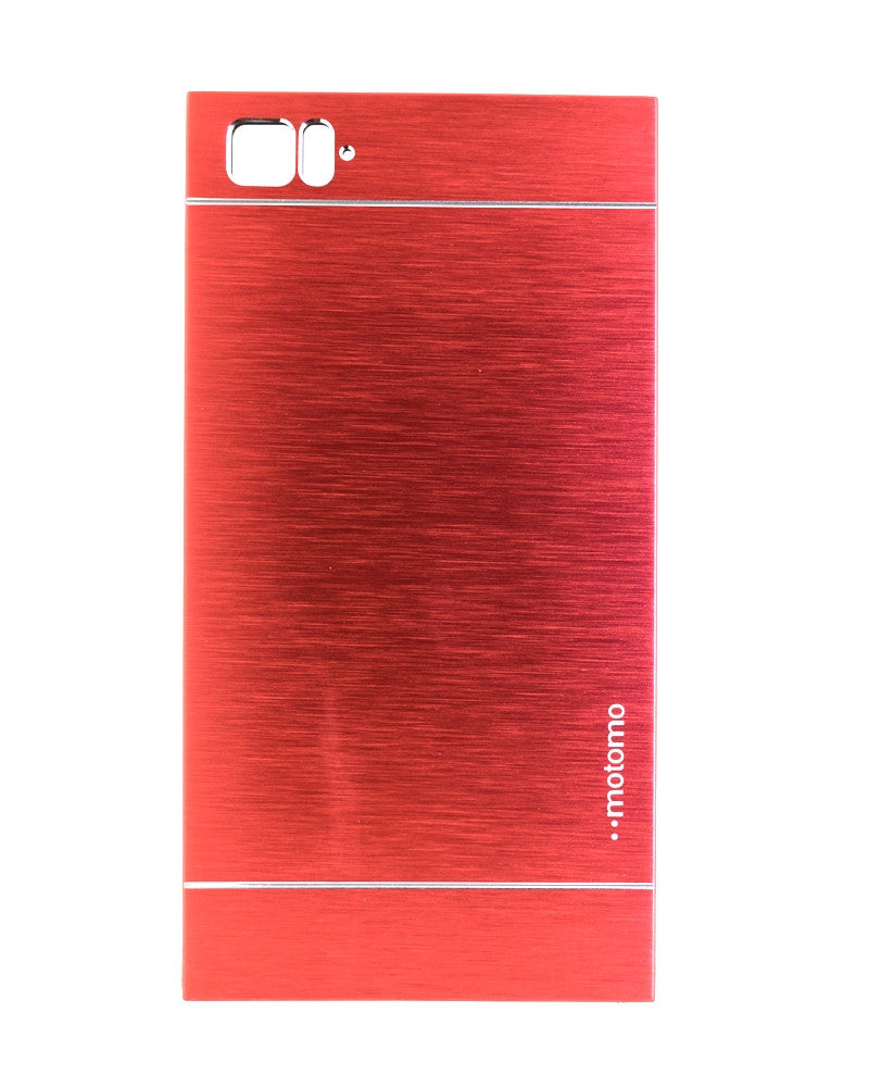 Motomo Metallic Design Mobile Cover - Back Cover for Xiaomi Mi 3 - MAROON