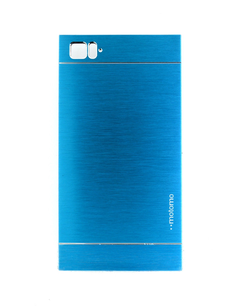 Motomo Metallic Design Mobile Cover - Back Cover for Xiaomi Mi 3 - BLUE