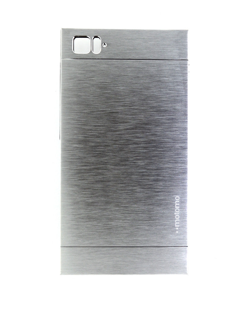 Motomo Metallic Design Mobile Cover - Back Cover for Xiaomi Mi 3 - SILVER