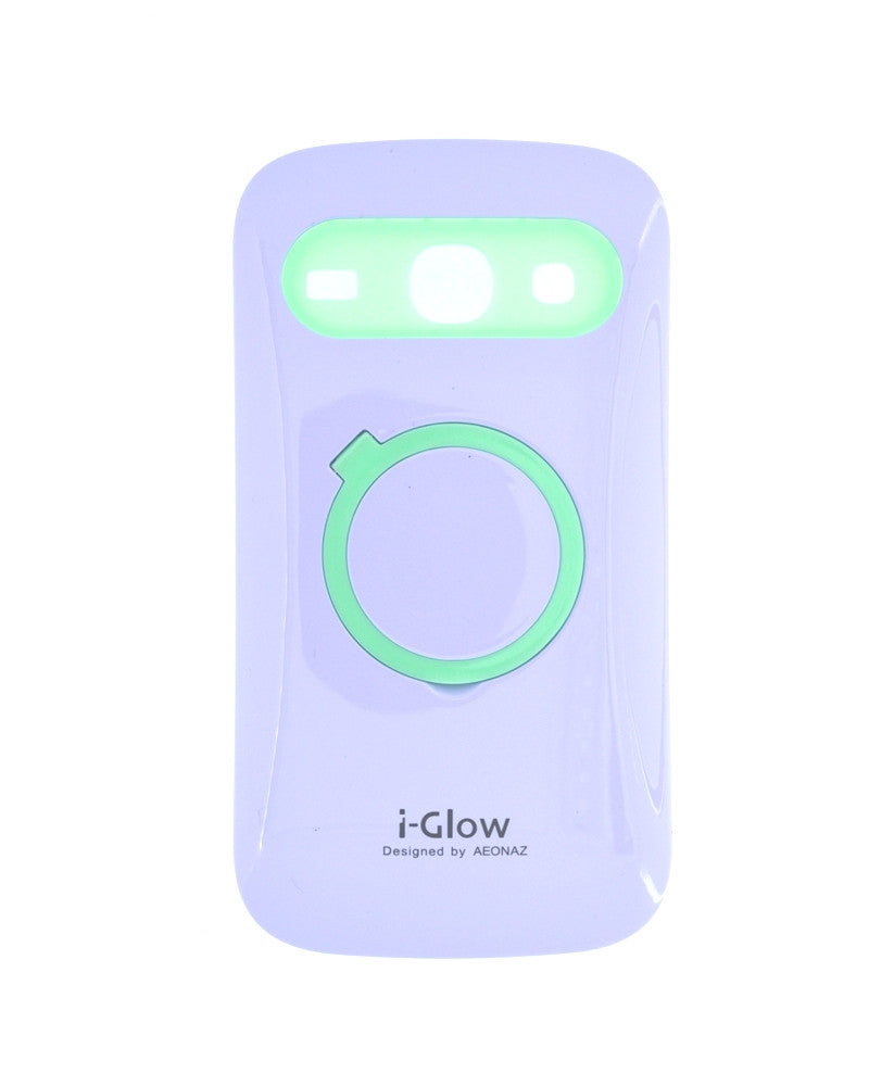 i-Glow Night Glow Mobile Cover for Samsung Galaxy Core i8262-PURPLE