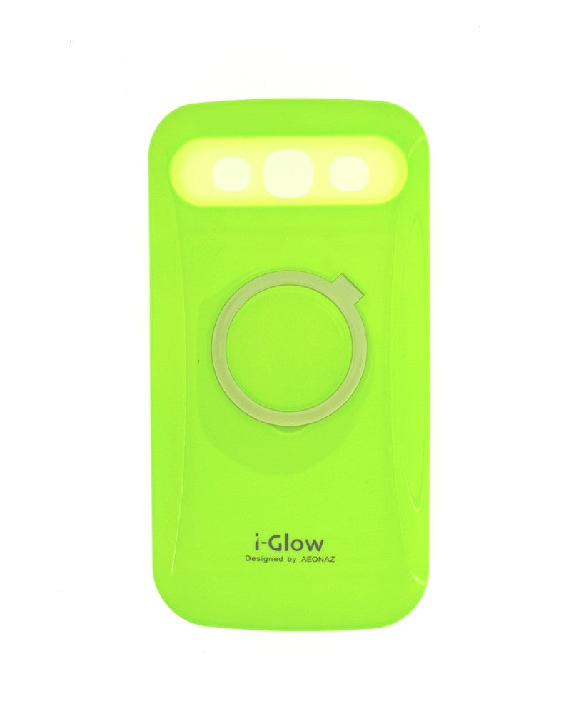 i-Glow Night Glow Mobile Cover For Samsung Galaxy S3 i9300-GREEN