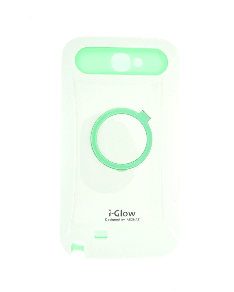 i-Glow Night Glow Mobile Cover For Samsung Galaxy Note 2 N7100-WHITE