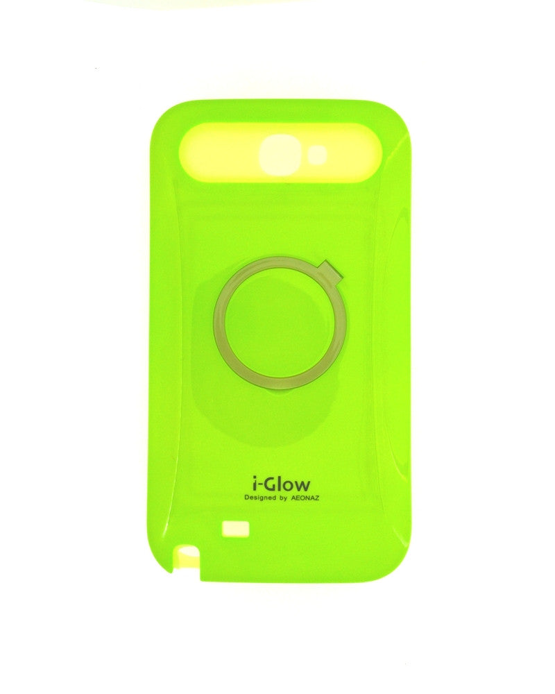 i-Glow Night Glow Mobile Cover For Samsung Galaxy Note 2 N7100-GREEN