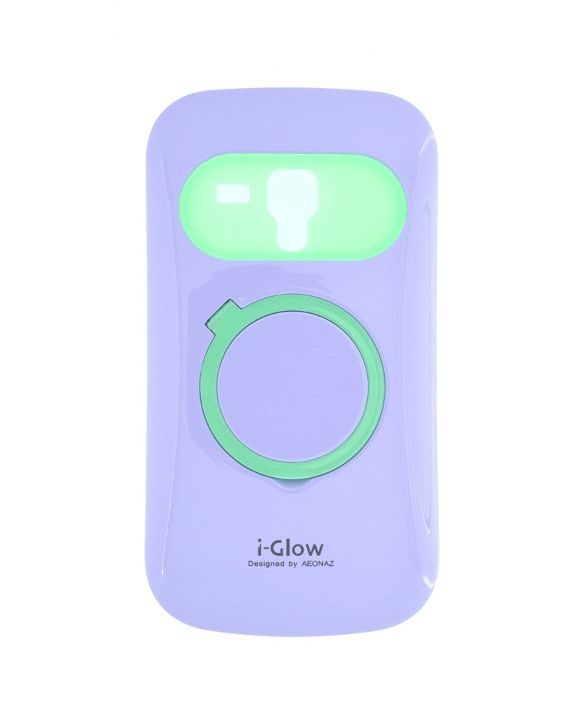 i-Glow Night Glow Mobile Cover For Samsung Galaxy S Duos 7562-PURPLE