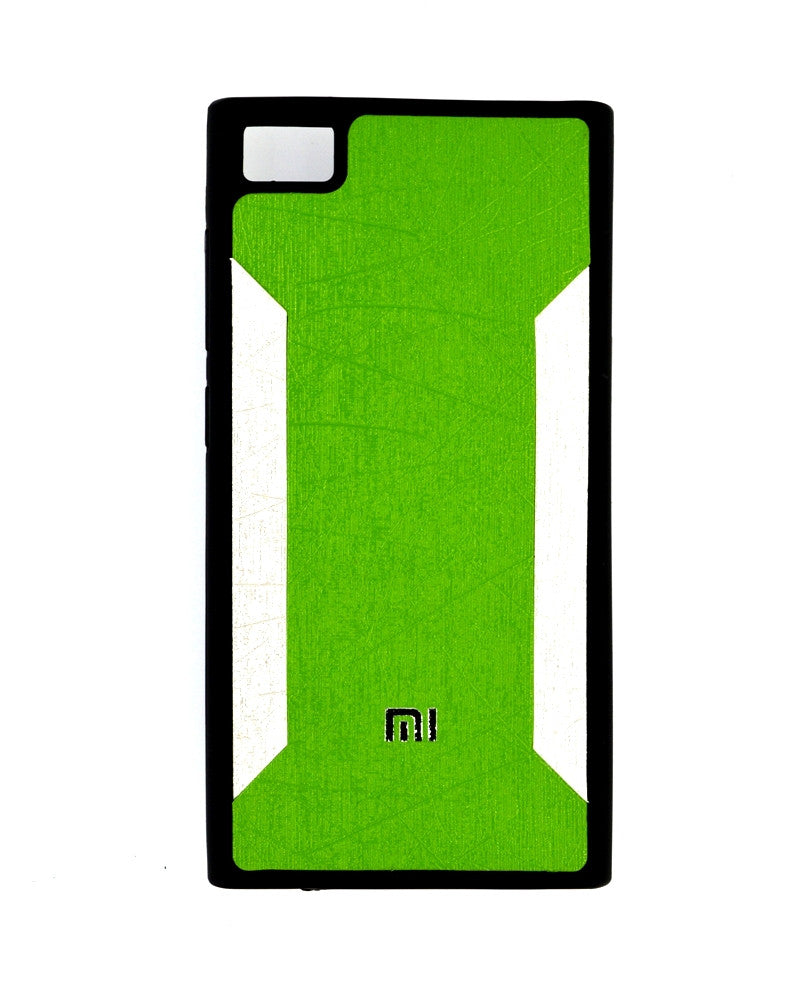 Premium Soft Silicone Rubber Mobile Cover for Xiaomi Mi 3 - GREEN