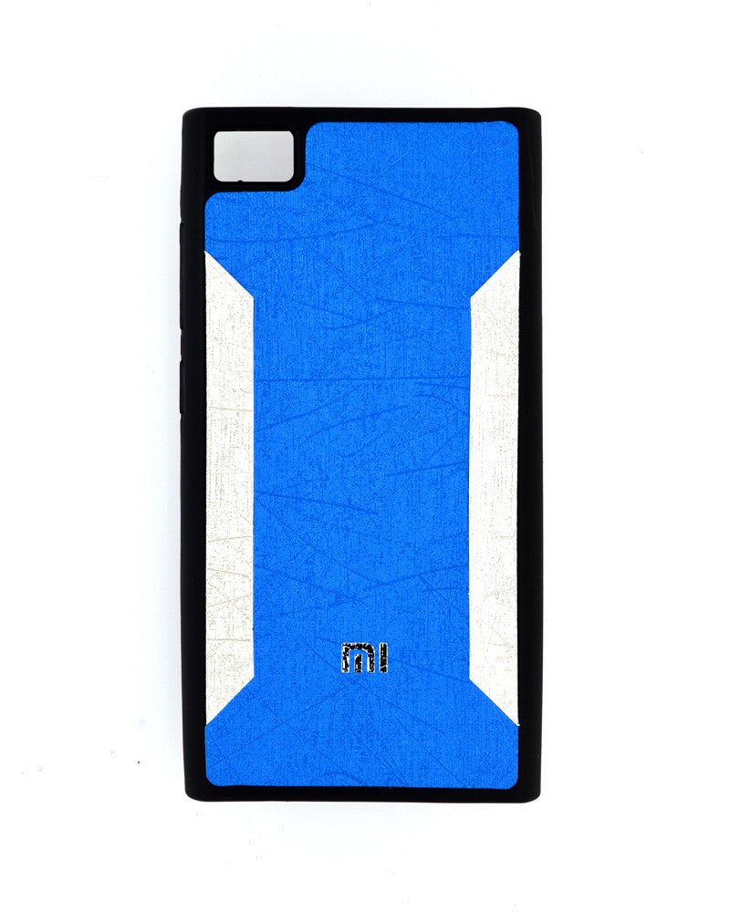 Premium Soft Silicone Rubber Mobile Cover for Xiaomi Mi 3 - BLUE