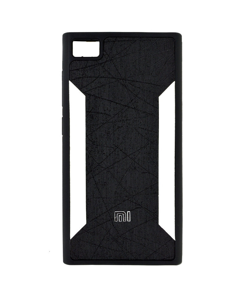 Premium Soft Silicone Rubber Mobile Cover for Xiaomi Mi 3 - BLACK