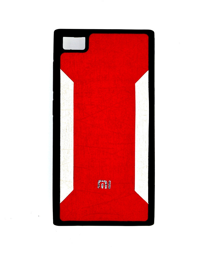 Premium Soft Silicone Rubber Mobile Cover for Xiaomi Mi 3 - RED