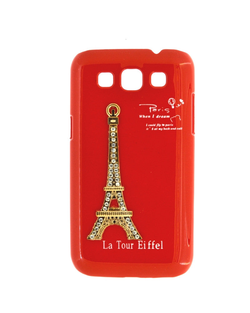 Eiffel Tower Mobile Back Cover for Samsung Galaxy Note 1-RED