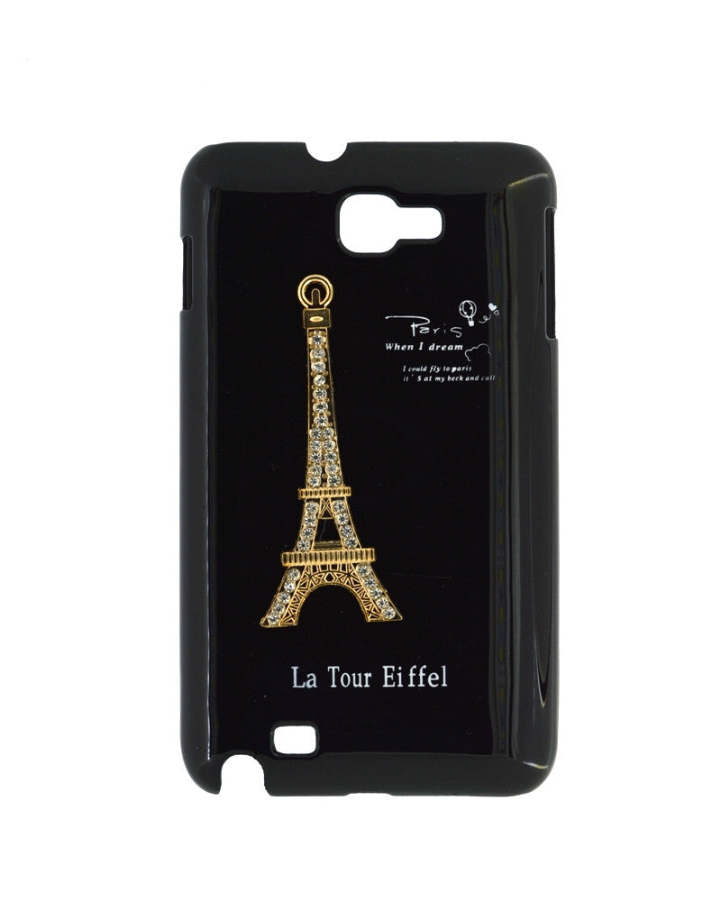 Eiffel Tower Mobile Back Cover for Samsung Galaxy Note 1-BLACK
