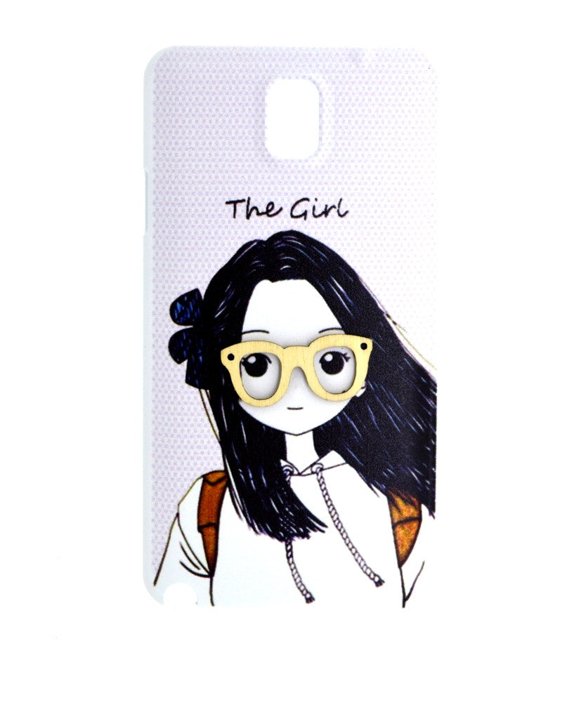 The Girl with Specs Design Mobile Cover for Samsung Note 3