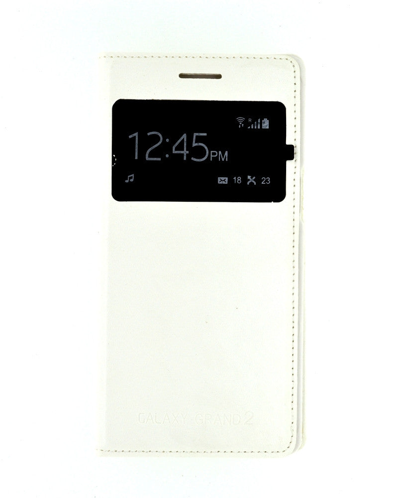 S View Mobile Flip Cover for Samsung Galaxy Grand 2 Duos-WHITE