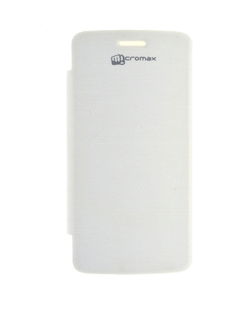 Flip Cover for Micromax Canvas Elanza 2 A121 - WHITE