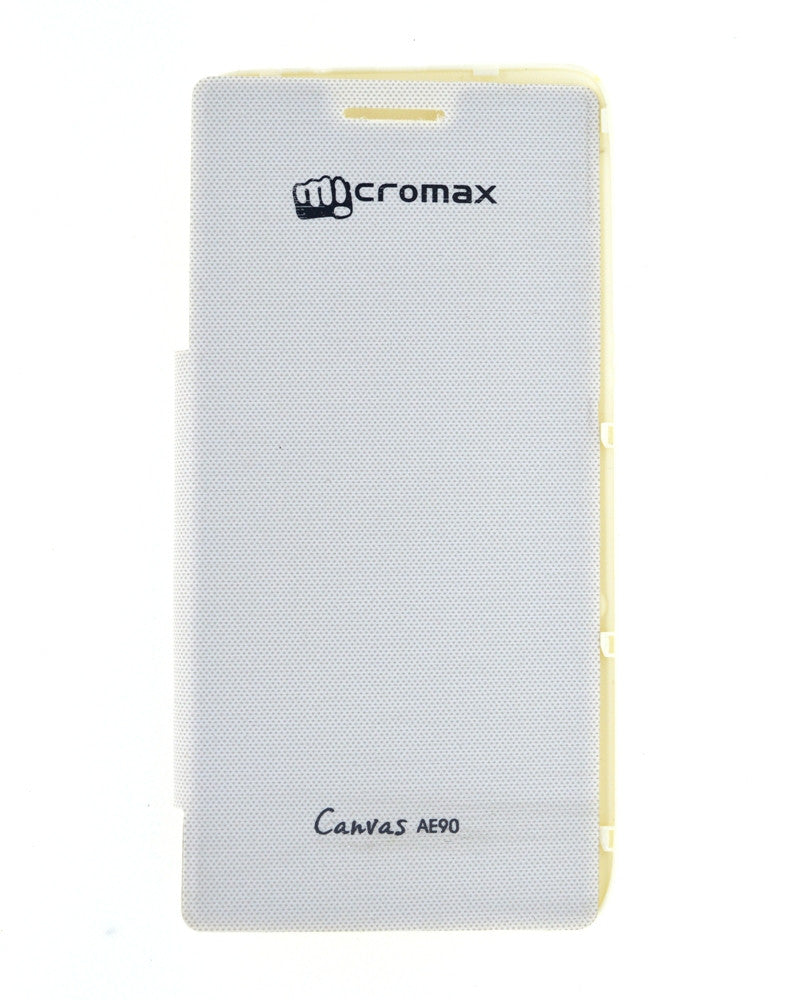 Flip Cover for Micromax Canvas Duet AE90 - WHITE