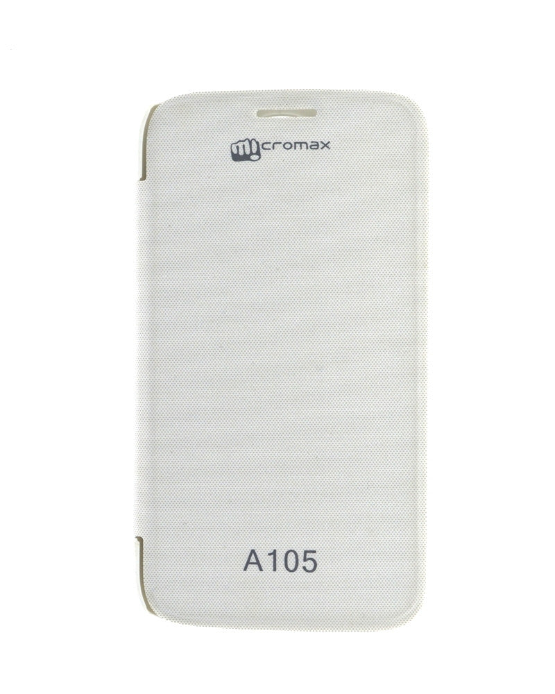 Flip Cover for Micromax Canvas Entice A105 - WHITE