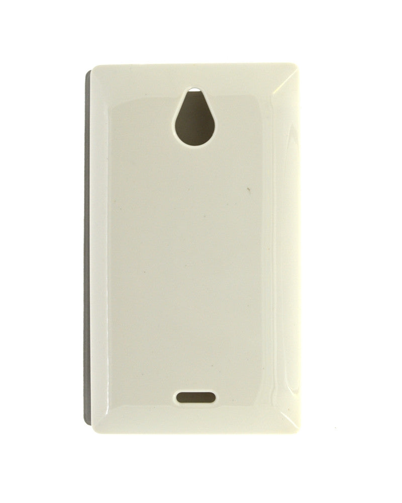 check out 2564d 36688 Flip Cover for Nokia X2 with Leather Look - WHITE