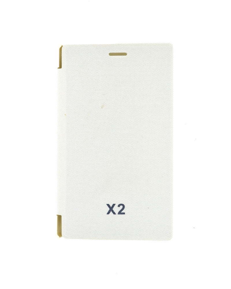 Flip Cover for Nokia X2 with Leather Look - WHITE
