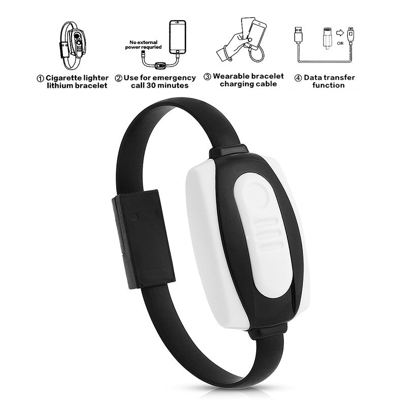 3 In 1 Lightning Usb Cable Bracelet Charger Data Sync Wristband