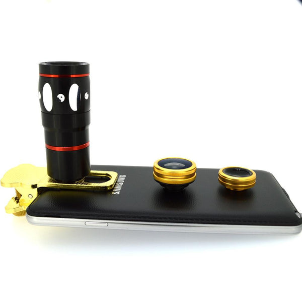 Universal 4 in 1 Camera Lens Kit for Smartphone Photography