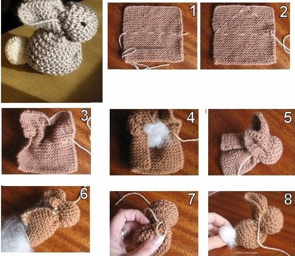 Knitting a little bunny
