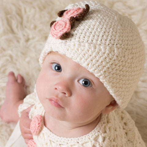 Hand Crochet Mary-Jane Hat