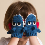 Hand Crochet Children's Shark Mittens
