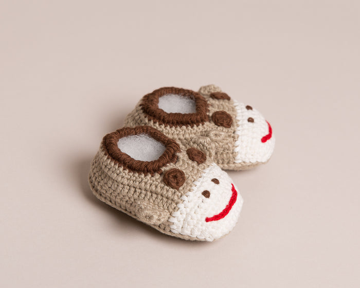 Hand Crochet Monkey Baby Shoes