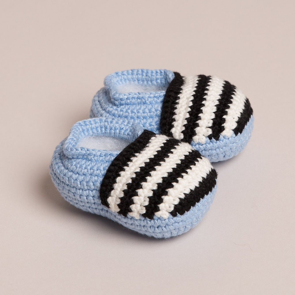Bamboo Stripy Baby Shoes 3 colours