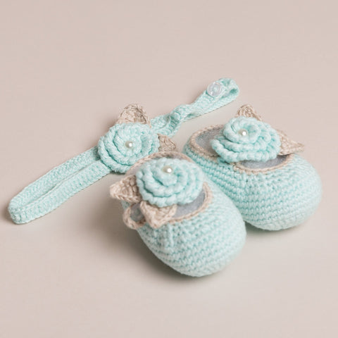 Baby's Pearl Shoes and Headband Set