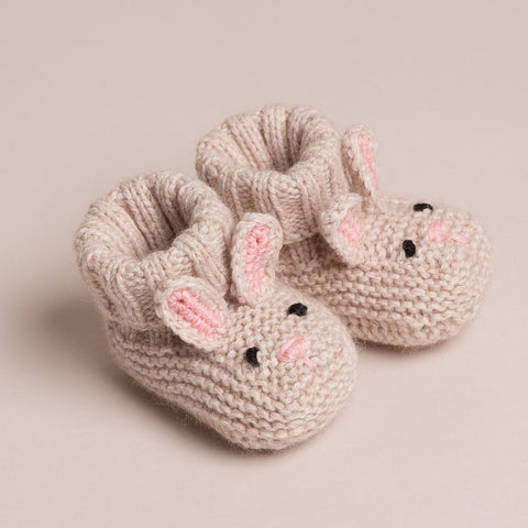Baby Cashmere Bunny Booties