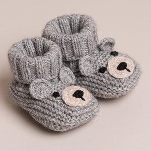 Baby Cashmere Bear Booties