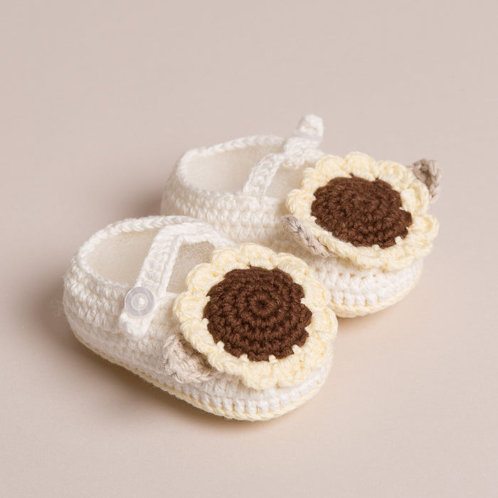 Handmade Baby Sunflower Shoes