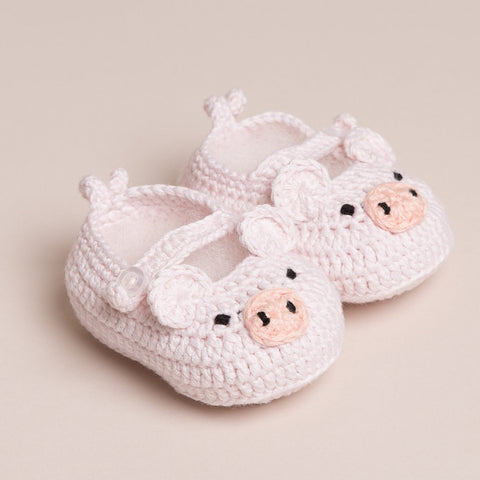 Baby Handmade Piggy Shoes