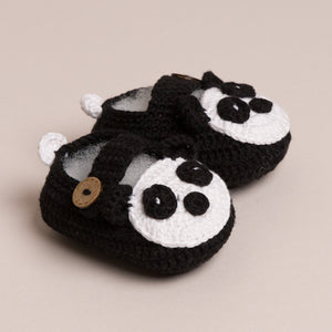 Load image into Gallery viewer, Baby Handmade Panda Shoes