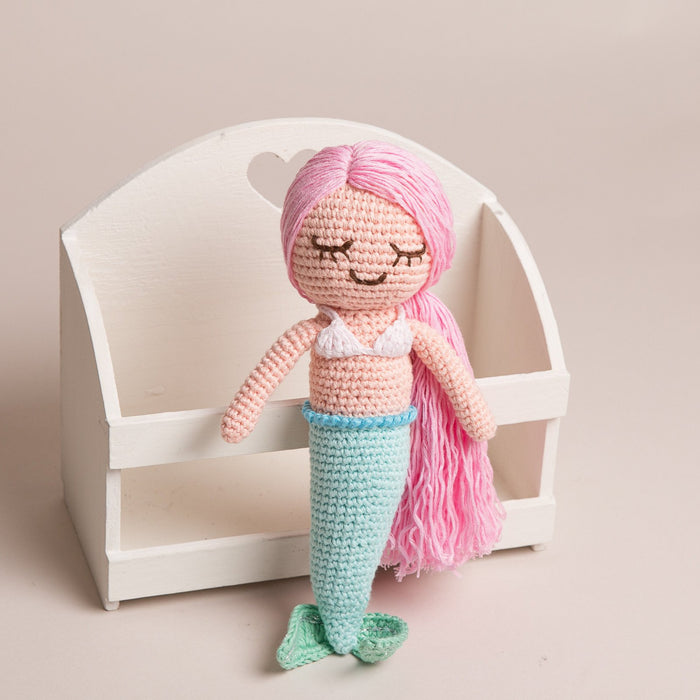 Hand Crochet Mermaid Doll