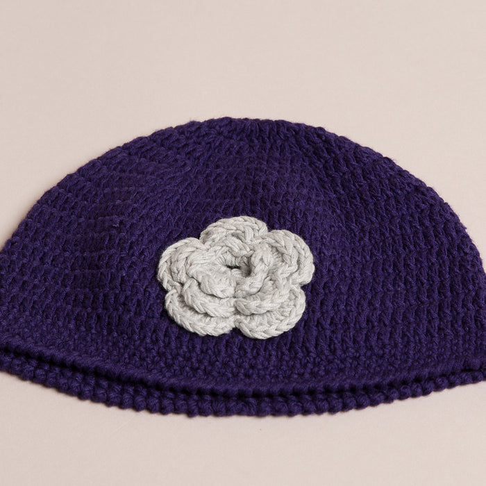Hand Crochet Purple Hat