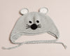 Hand Crochet Mouse Hat Grey