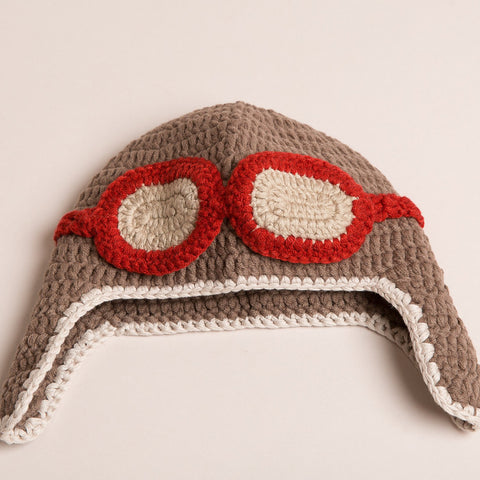 Hand Crochet Aviator Hat