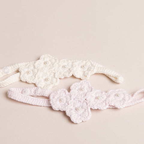 Flower with Pearls Headband
