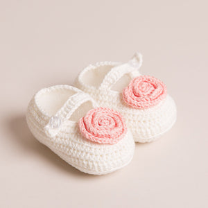 Bamboo Baby Mary Jane Shoes (Cream)