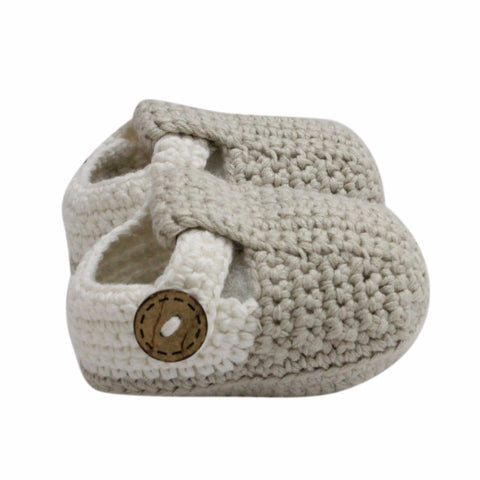 T Bar Baby Shoes (Beige)
