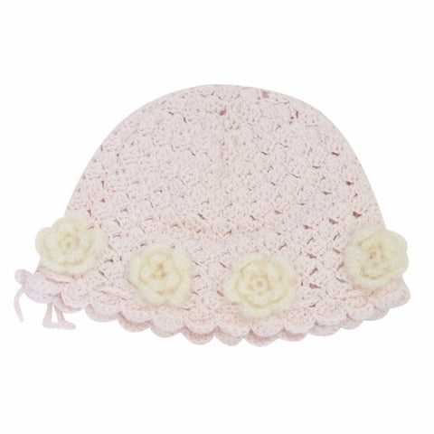 Hand Crochet Mohair Flower Hat
