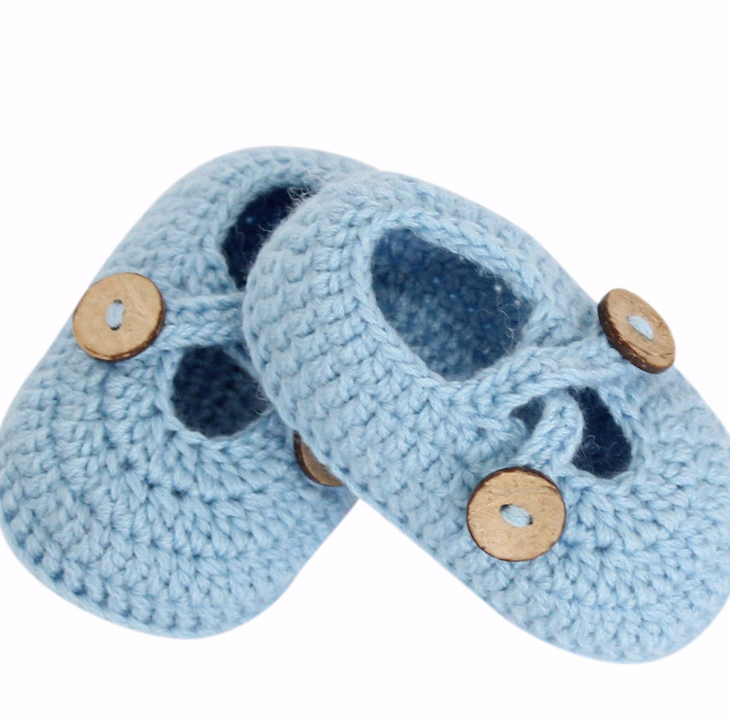 Hand Crochet Baby Crossed Strap Shoes 4 colours